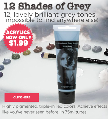 12 Shades of Grey Acrylic Paints