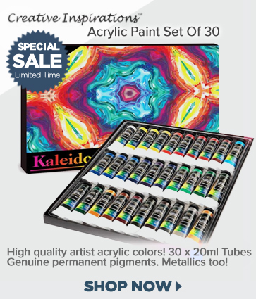 Acrylic Paint Set of 30 on Sale, Creative Inspirations