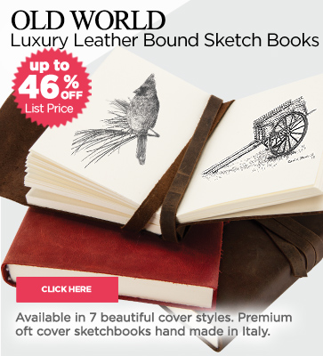 Luxury Leather Sketchbooks 46% OFF Sale