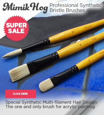 Mimik Hog Professional Acrylic Brushes On Sale