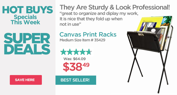 Canvas Print Racks - Hot Buys