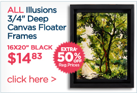 Canvas Floater Frames on Sale Extra 50% OFF Regular Prices