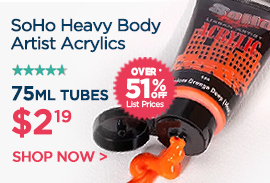 SoHo Artist Acrylic Heavy Body Paints - Best Paints on Sale