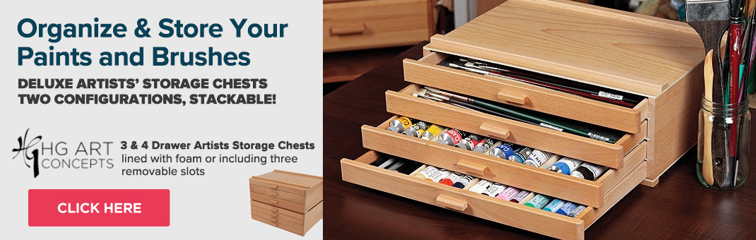 HG Art Concept Artists 3 and 4 drawer Storage Chests