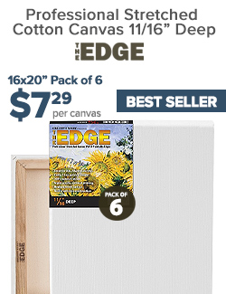 Edge All Media Cotton Deluxe Stretched Canvas on Sale