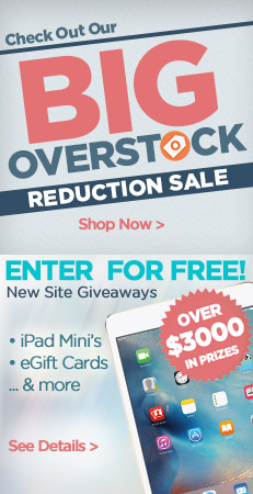 Big Overstock Reduction Sale and Giveaways