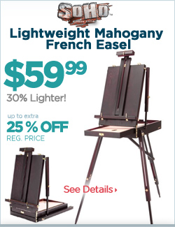 Lightweight Mahogany French Easel 25% off