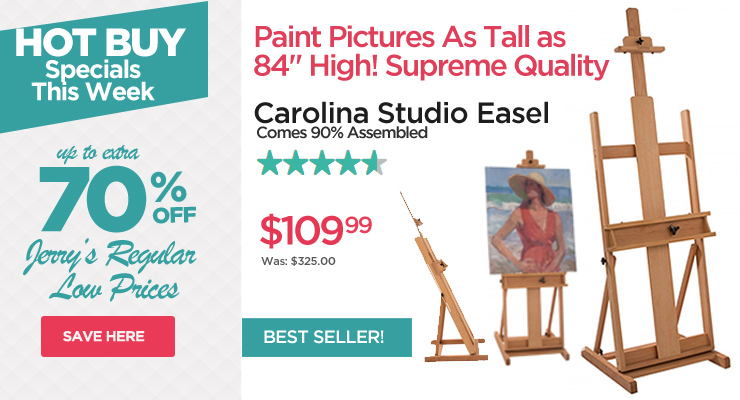 Carolina Top Selling Studio Easel for Artists - Hot Buys