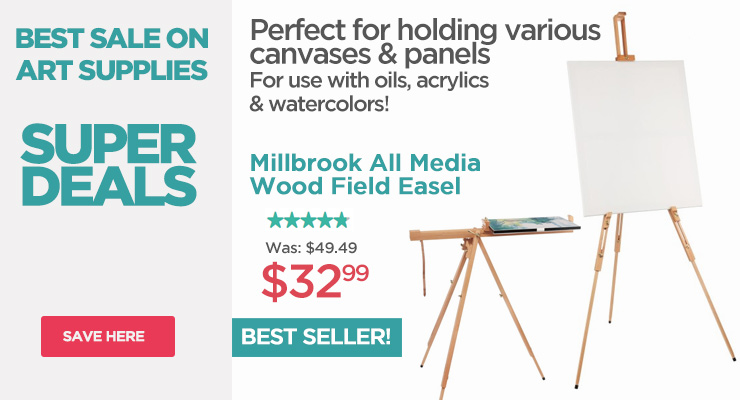 All media versatile lightweight easel for oils, acrylics and watercolors