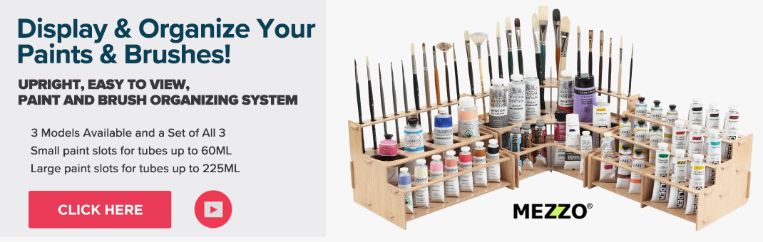 Artist brush and paint organizizer. Storage for paints and brushes by Mezzo!