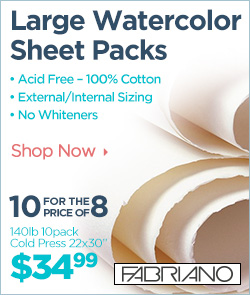 Fabriano Large Watercolor Sheet Packs