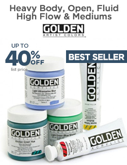 GOLDEN Heavy Body Acrylics 40% OFF sale at Jerry's
