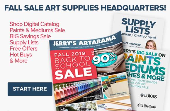 Fall Back To Art Class Savings Sale For Artists