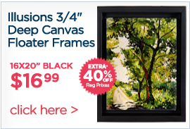 Canvas floater frames for artists on sale by Illusions