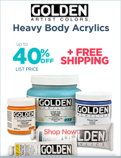 Golden Acrylics 40% off plus free shipping