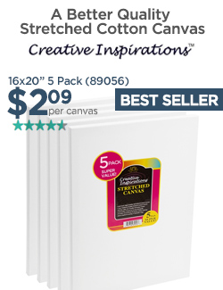 16x20in Stretched Canvas only $2.09 - Super Value 5 Pack
