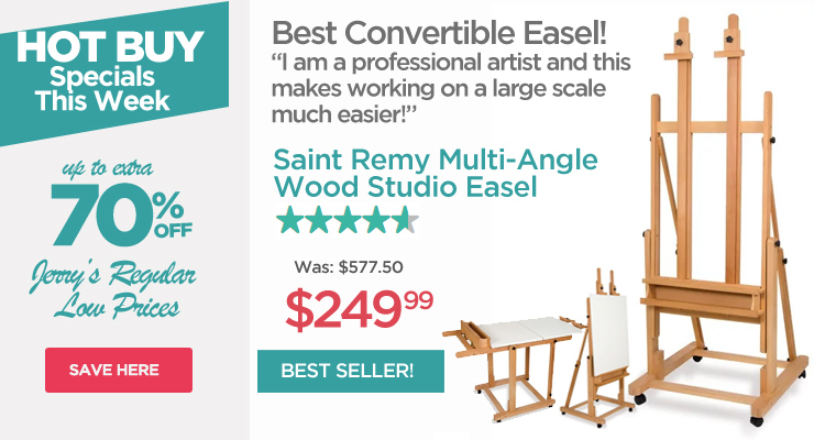 Saint Remy Convertible Stusio Easel - Hot Buys