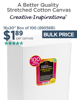 16x20in Stretched Canvas only $1.89 - Box of 100