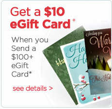 Free Egift Card with orders of egift cards