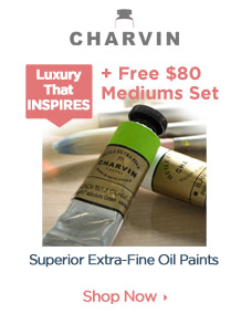 Charvin Extra Fine OIl Paints and Free Mediums Set