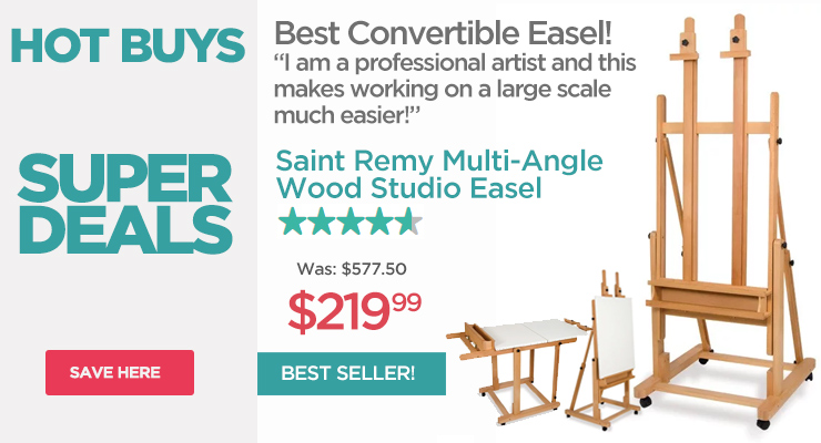 Saint Remy Best Selling Convertible Artist Easel - Hot Buys