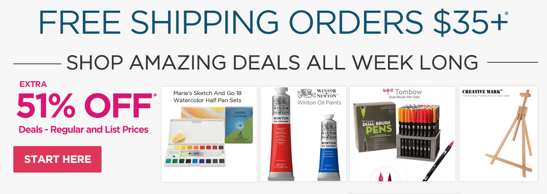 Best Selling Art Supplies at 51% OFF Deals