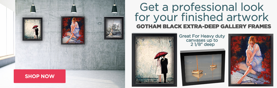 Gotham Black Deep Art Frames for Canvas - Frame Your Artwork