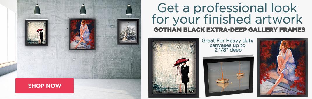 c0b9554bd8d9 Gotham Black Deep Art Frames for Canvas - Frame Your Artwork