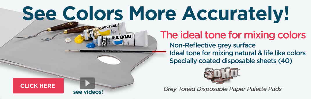 Grey Toned disposable artist palette paper pads - see color more accurately!