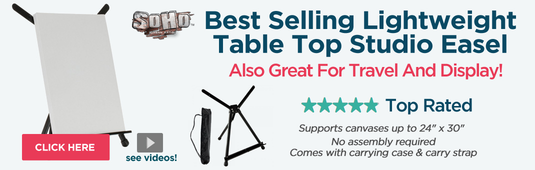The Soho Urban Artist Lightweight Table Top Studio Easel - Also Great For Travel And Display