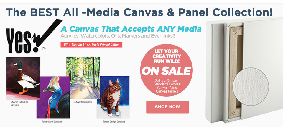 Yes All Media Cotton Canvas Panels and Boards