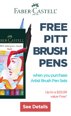 Free Pitt Brush Markers with Faber Castell Sets