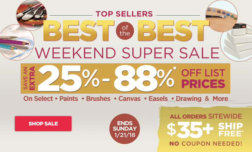 Save 25%-88% Off on Top Sellers in all Categories plus Free Shipping orders $35+
