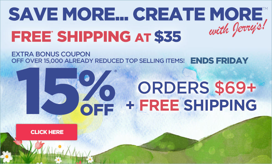 EXTRA 15% off orders over $69 plus free shipping - Must Use Code springtime at checkout.