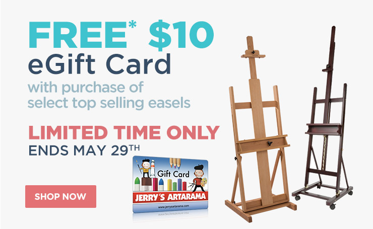 Free $10 eGift Card with purchase of select easels