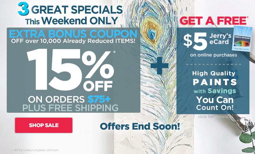 3 Great Specials- 15%Off Coupon - Free$5 eCard plus High Quality Paints Value on Sale