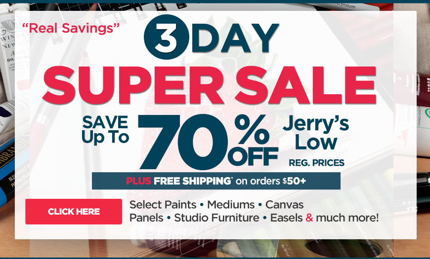 3 DAYS Super Sale - Watercolors, Water-Soluble Oils, Gouache, Multi-Media Plus Already Reduced Hot Buys