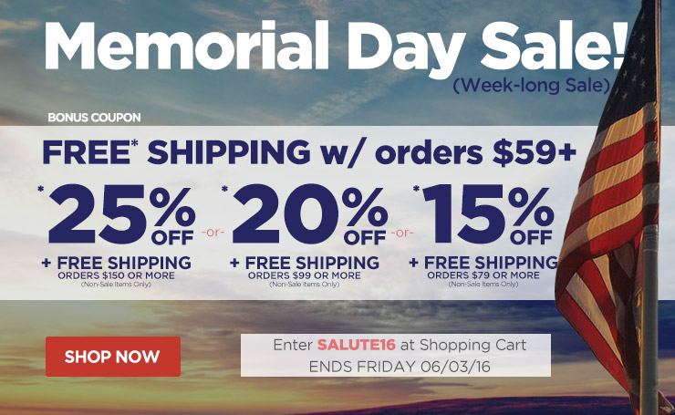 Save up to 25% Off Orders Over $150 Plus Free Shipping - Ends Friday, May 27th - Must Use Code durer16 At Checkout.