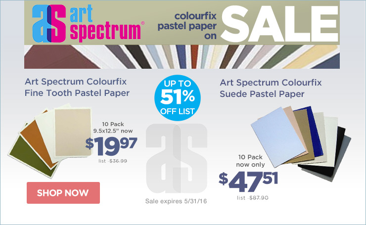 Save on Art Spectrum Colourfix Pastel Paper