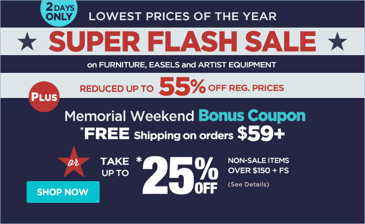 Super Flash Sale plus Free Shipping $59 + Bonus Coupon