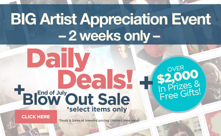 Jerry's Artist Appreciation Sale with Door Busters Every Day