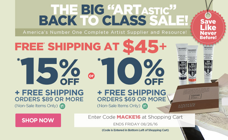 Save up to 15% Off Plus Free Shipping - Use Code macke16