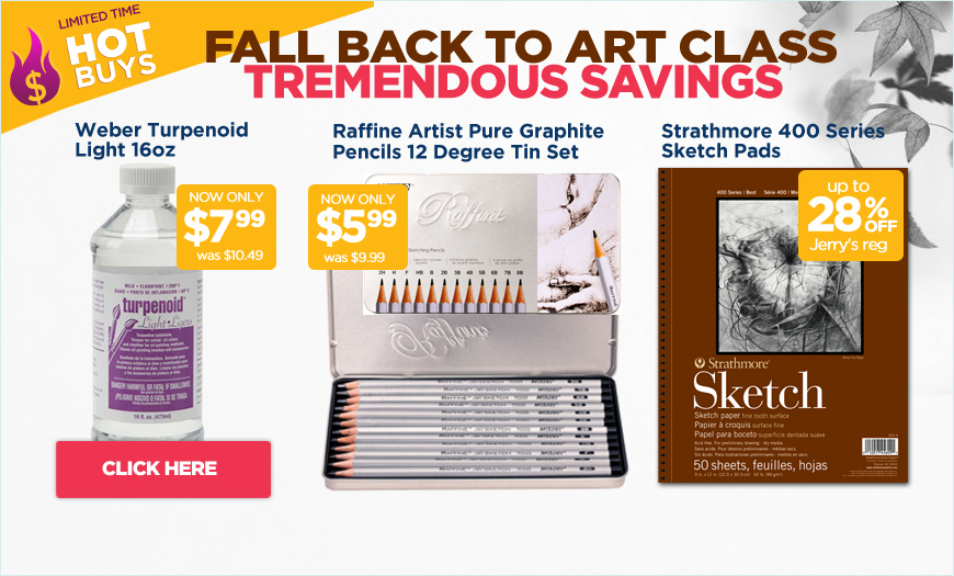 Limited Time Back to Art Class HOT BUYS!