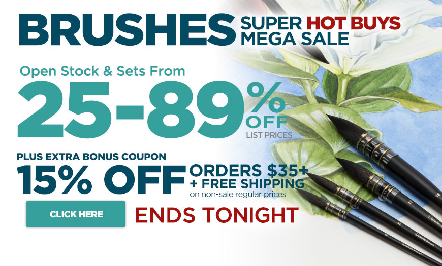 Super Brushes Sale 25%-89% OFF & Bonus Coupon – Must See Specials only at Jerry's
