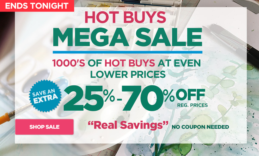 Hot Buys MEGA Sale - Plus Shop Super Deals up to 70% Off & Free Shipping orders $45