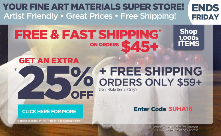 Bonus 25% off $59+ and Free Shipping - Must Use Code suha16 at checkout.