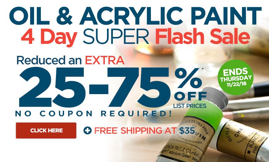 4 Day Super FLASH Sale on Oils & Acrylics Paint – Must See Holiday Deals