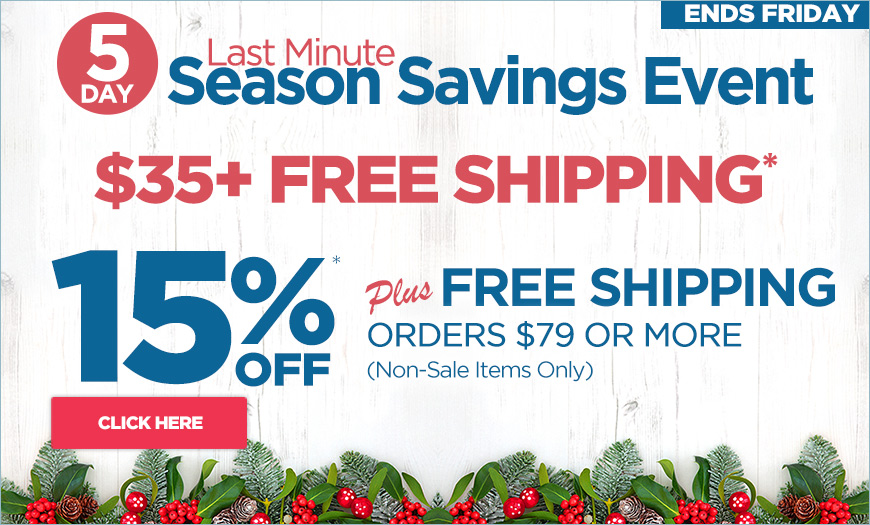 EXTRA 15% off orders over $79 plus free shipping - Must Use Code givegifts at checkout.