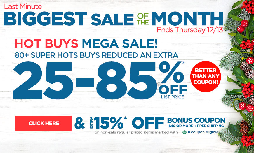 Last Minute Massive Hot Buy Gifts Super Sale! 15% Off Order $49+ Plus Free Shipping