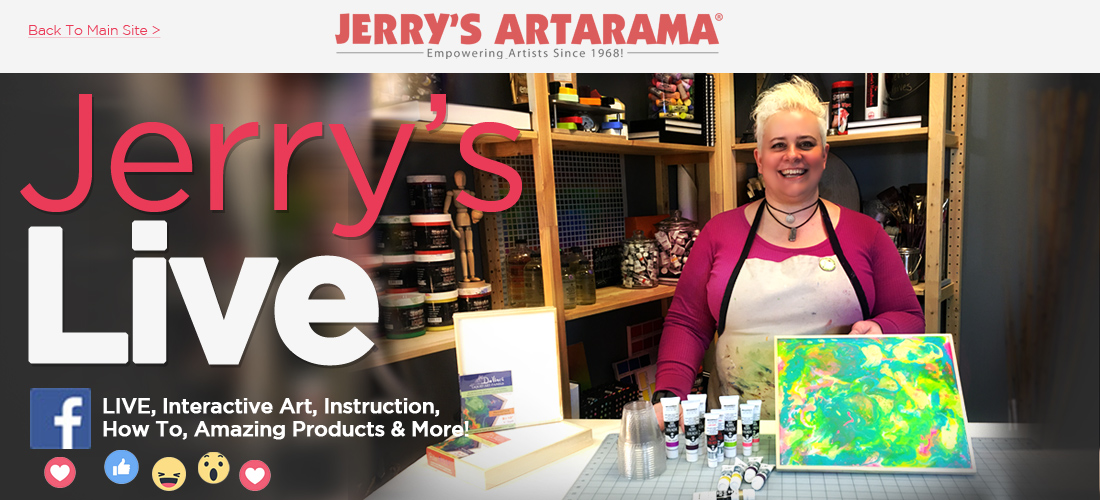 Jerry's Live - Facebook art workshops, product infromation and how to's
